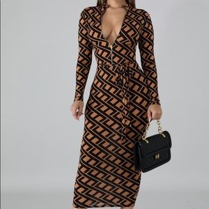 Fendi print inspo dress ✨